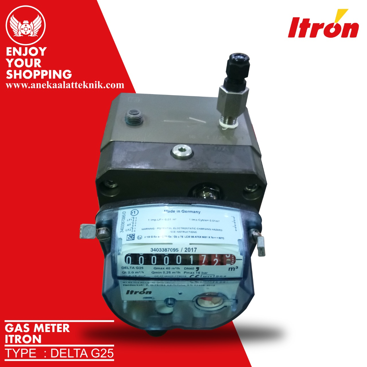 Jual Rotary Meter Delta Itron G16